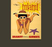 Miami Vintage Travel Poster Restored T-Shirt