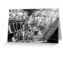 Graffiti in B&W Greeting Card