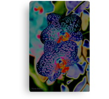 Couple of Orchids in BLUES <3 Canvas Print