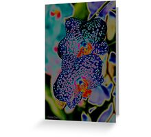 Couple of Orchids in BLUES <3 Greeting Card