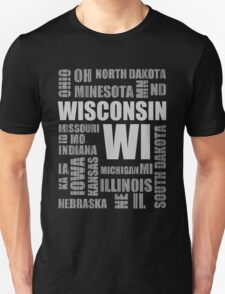 State Design - USA Wisconsin T-Shirt