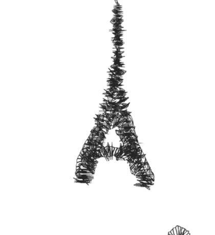 Eiffel tower meets croissant Sticker