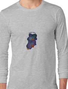 Orchids in Blues Long Sleeve T-Shirt