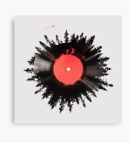 The Vinyl of my life Canvas Print