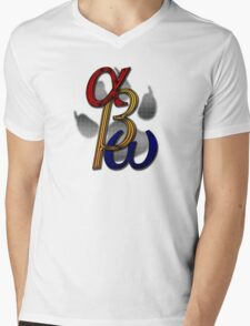 alpha beta omega light Mens V-Neck T-Shirt