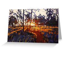 Nyrang Sunset Greeting Card
