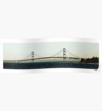 Mackinac Bridge No530 Poster