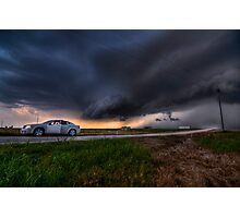 Storming over the Rental Car Photographic Print
