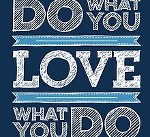 Do What You Love Typography Motivational Quote by shabzdesigns