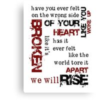We Will Rise Canvas Print