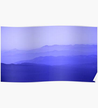 Mountain Blue Poster