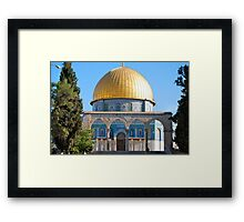 The Dome of the Rock... Framed Print