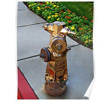 Bronzed Hydrant Poster