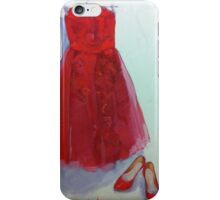Red Dress and Shoes iPhone Case/Skin