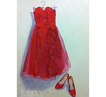 Red Dress and Shoes Photographic Print