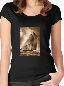 Sea stories II Women's Fitted Scoop T-Shirt