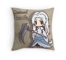 Cross breed priscilla Chibi version Throw Pillow