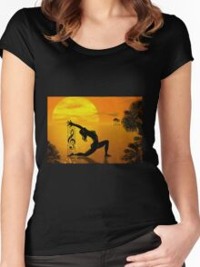 HARPIST Women's Fitted Scoop T-Shirt