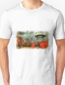 UFO Invasion Small Town by Raphael Terra T-Shirt