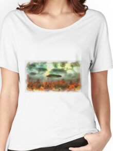 UFO Invasion Small Town 2 by Raphael Terra Women's Relaxed Fit T-Shirt
