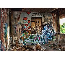 Abandoned Train Station Photographic Print
