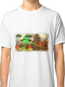 UFO Invasion Small Town 3 by Raphael Terra Classic T-Shirt