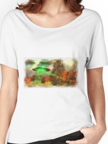 UFO Invasion Small Town 3 by Raphael Terra Women's Relaxed Fit T-Shirt