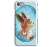 Sherri the winter loving bunny iPhone Case/Skin
