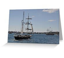 Tall Ships Departure, Fleet Review, Manly, Australia 2013 Greeting Card