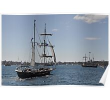 Tall Ships Departure, Fleet Review, Manly, Australia 2013 Poster