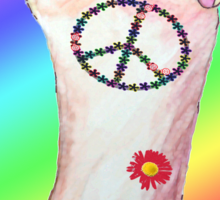 peace and love! Sticker