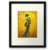 Beautiful Japanese girl Framed Print