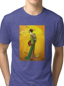 Beautiful Japanese girl Tri-blend T-Shirt