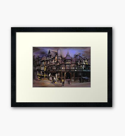 The cross and Rrows,Chester England Framed Print