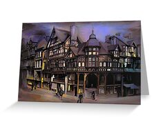 The cross and Rrows,Chester England Greeting Card