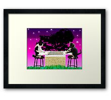 Double Kitty Score Framed Print