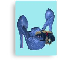 My Spotted shoes, tee shirt Canvas Print