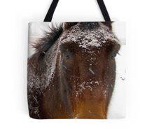 Snow Horse Tote Bag