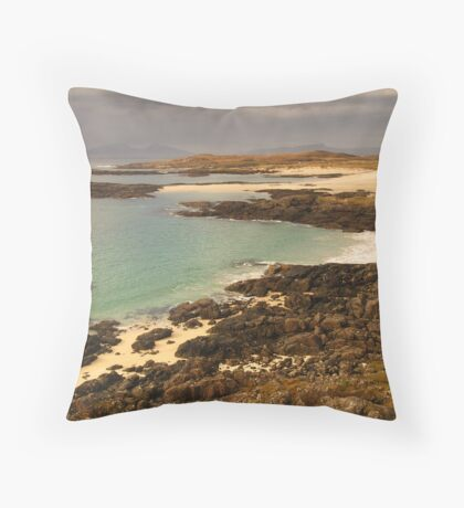 Sanna Bay, Ardnamurchan, Highland, Scotland Throw Pillow