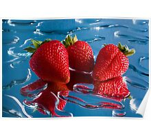Three Strawberries Poster