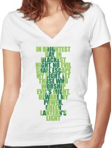Superhero Wordart Women's Fitted V-Neck T-Shirt