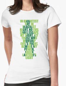 Superhero Wordart Womens Fitted T-Shirt