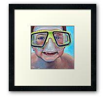 Junior Diver Framed Print