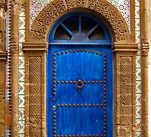 blue oriental door by Intrepix