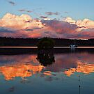 Sunset Reflections Across Canaipa Passage by Janette Rodgers