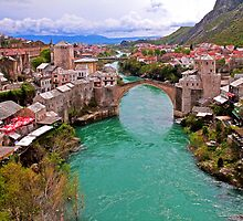 Mostar. View from the top of the Minaret. by vadim19