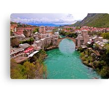 Mostar. View from the top of the Minaret. Canvas Print
