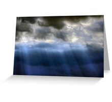 Storm Clouds & Sun Rays Over Kanmantoo Greeting Card