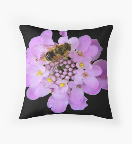 Busy Bee © Throw Pillow
