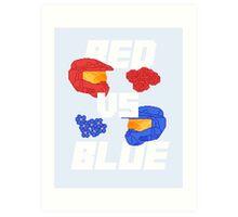 red versus blue Art Print